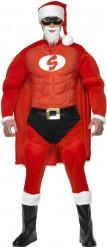 Muskulöses Super-Weihnachtsmann Kostüm für Herren