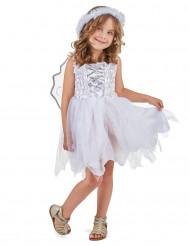 Engel-Prinzessinkostüm für Mädchen weiss-silberfarben