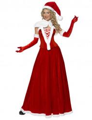 Weihnachts-Frau Kostüm Deluxe für Damen