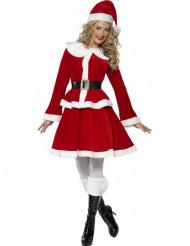 schöne Weihnachtsfrau Kostüm mit taillierter Jacke
