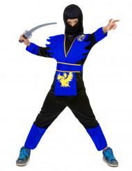 Ninjakostüm für Kinder schwarz-blau-gelb