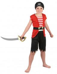 Kurzes Piratenkostüm für Jungen bunt