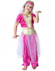 Orientalische-Tänzerin-Kinderkostüm pink-goldfarben