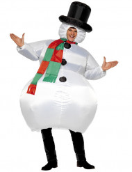 Aufblasbares Schneemanns-Kostüm für Erwachsene