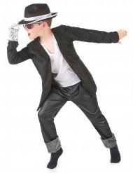 Popstar-Kostüm schwarz für Jungen