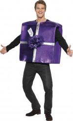 Weihnachtsgeschenk-Kostüm für Erwachsene violett