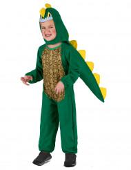Dinosaurier-Kostüm für Kinder Krokodilhaut grün