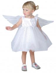 Engel-Kleinkinderkostüm für Mädchen weiss