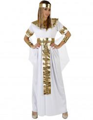 Ägyptische Königin Kostüm für Damen weiß gold 5-teilig
