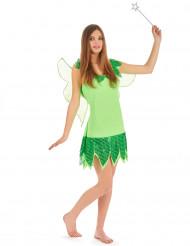 Feen-Kostüm Grün für Damen