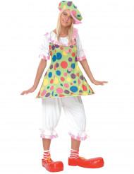 Spaßiges Clowns-Kostüm für Damen Zirkus bunt