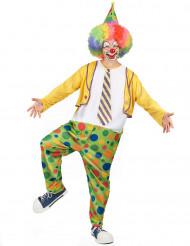 Clownskostüm für Herren Zirkus bunt