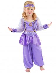 Orientalisches Tänzerinnen-Mädchenkostüm violett-goldfarben