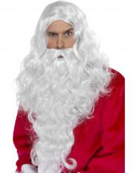 Weihnachtsmann Perücke und Bart für Erwachsene