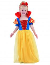 Märchenprinzessin-Mädchenkostüm blau-gelb-rot