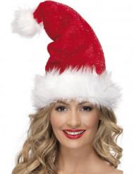 Weihnachtsmütze Deluxe für Erwachsene mit Kunstpelz