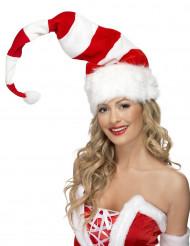 Gestreifte Weihnachtsmütze für Erwachsene