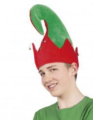 Wichtelmütze Weihnachten für Erwachsene grün-rot