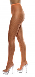 Leuchtorange Netzstrumpfhose für Damen