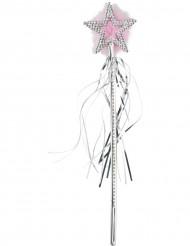 Glänzender Weihnachtsstab mit Stern