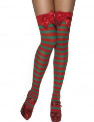 Gestreifte Wichtelstrumpfhosen Weihnachten für Erwachsene