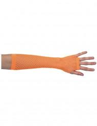 Halb-Handschuhe, Netz, orange, für Damen