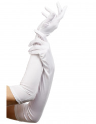 Lange, weiße Handschuhe für Erwachsene