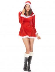 Sexy Weihnachts-Kostüm für Damen rot-weiss