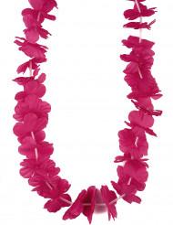 Hawaii Blumenkette in pink für Erwachsene