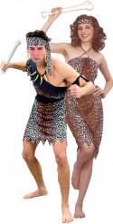 Höhlenmensch-Kostüm für Paare