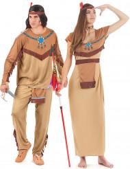 Indianer-Paarkostüm für Erwachsene