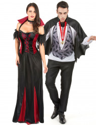 Verführerisches Vampirkostüm für Paare Halloween