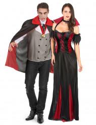 Vampir-Paarkostüm Halloween für Erwachsene