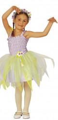 Ballerina Feenkostüm für Mädchen lila-gelb