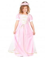 Prinzessinnenkostüm mit Diadem für Mädchen rosa