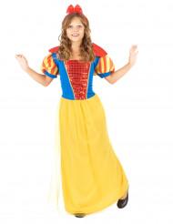 Märchen-Prinzessinnenkostüm  für Mädchen gelb-blau-rot