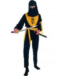 Ninja-Kostüm gelber Drache für Jungen
