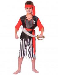 Piraten Jungenkostüm schwarz-weiss-rot