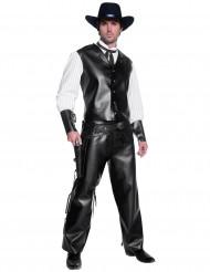 Sheriff Cowboykostüm für Herren schwarz