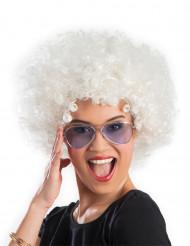 Afro-Perücke Disko weiß für Erwachsene