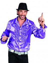 Diskohemd violett für Erwachsene
