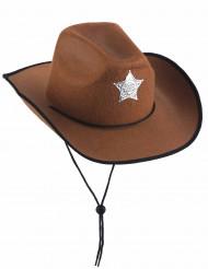 Sheriffhut braun für Erwachsene