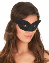 Augenmaske für Karneval schwarz