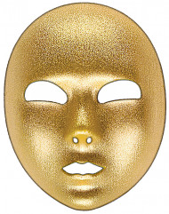 Goldene Gesichtsmaske