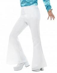 Weiße Disco-Schlaghose für Herren