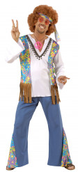 Hippie-Kostüm für Herren blau-weiss