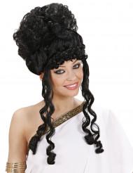 Schwarze Göttin-Perücke für Damen