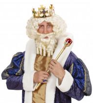Weiße Königs-Perücke für Herren