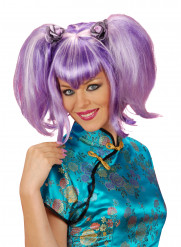 Lila Chinesin-Perücke für Damen