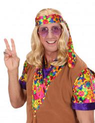 Blonde Hippie-Perücke für Herren